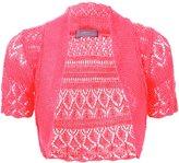 Miss Trendy Women's Plus Crochet Lace Knitted Bolero Open Crop Shrug