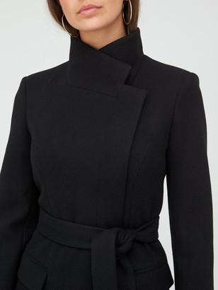 Very Funnel Neck Coat - Black