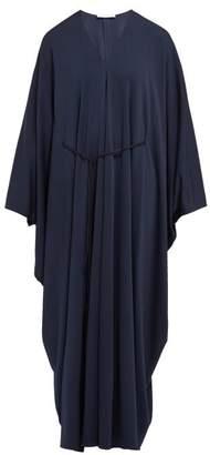 The Row Joanna Belted Kaftan Dress - Womens - Navy