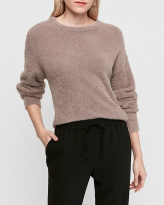 Express Fuzzy Balloon Sleeve Sweater