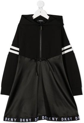 DKNY Hooded Flared Dress