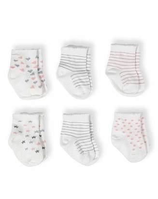 Aden Anais Aden & Anais Baby Girl Pack of Six Socks