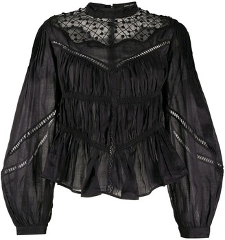 Isabel Marant Ruched Bell Sleeve Blouse