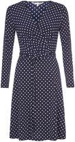 Yumi Jersey Wrap Dress With Polka Dots