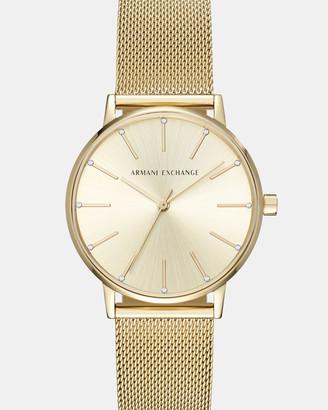 Armani Exchange Gold-Tone Women's Analogue Watch
