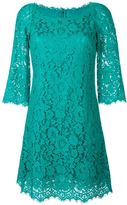 Dolce & Gabbana floral lace fitted dress - women - Silk/Cotton/Nylon/Viscose - 40
