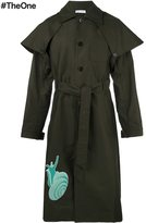 J.W.Anderson snail patch trench coat - men - Cotton - 46