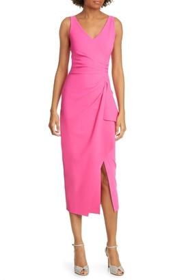 Chiara Boni Kloty Ruched Midi Dress