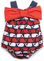 Mud Pie Baby-Girls Swimsuit Little Whale 12-18 months