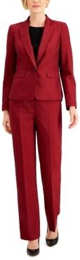 Le Suit Mini Crosshatch Pantsuit