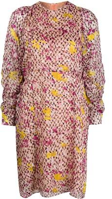 Lala Berlin Abstract Print Midi Dress