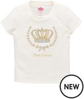Juicy Couture Girls Crown Short Sleeve Tee