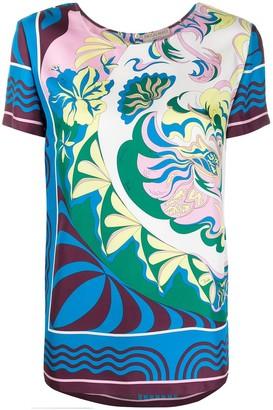 Emilio Pucci Manu print silk T-shirt