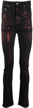 Rick Owens Metallic Print Jeans