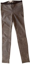Helmut Lang Grey Leather Trousers