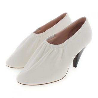 Celine Soft Ballerina White Leather Heels