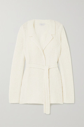 Gabriela Hearst Coles Belted Cashmere And Silk-blend Boucle Blazer - Ivory