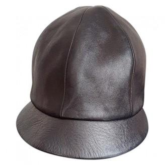 Prada Black Leather Hats