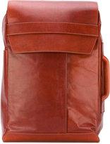 Maison Margiela flap front backpack - men - Leather - One Size
