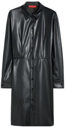 Max & Co. Faux Leather Shirt Dress