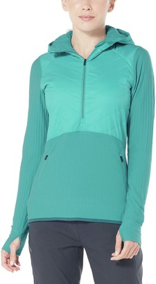 Icebreaker Descender Hybrid Half Zip Hooded Jacket - Women's