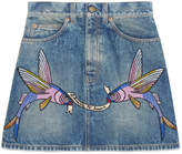 Gucci Unskilled Worker embroidered mini skirt