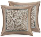 "Madison Park Madison Park Aubrey Paisley Jacquard 20"" Square Pair of Decorative Pillows"