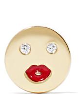 Alison Lou Mwa Enameled 14-karat Gold Diamond Earring - one size
