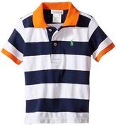 Ralph Lauren Yarn-Dyed Mesh Stripe Polo Top (Infant)