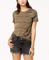 Hybrid Juniors' Camo-Print Pocket T-Shirt