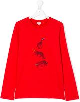 Paul Smith animals print longsleeved T-shirt - kids - Cotton - 14 yrs