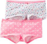 Osh Kosh 2-Pack Stretch Cotton Boyshort Panties