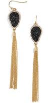 BaubleBar Starfire Druzy Tassel Earrings