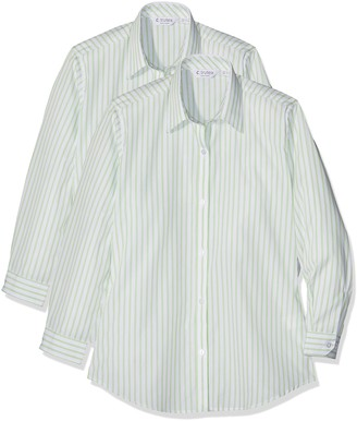 Trutex Girl's 2pk E/C L/S Contemp Shirt
