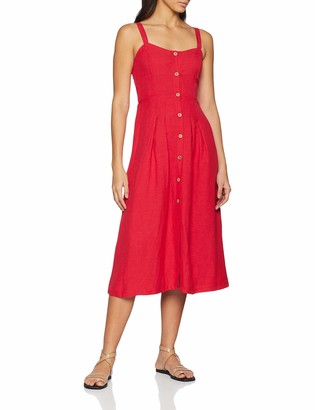 Joe Browns Women's Lauren's Linen Mix Dress Red (A-Red (Size:10)