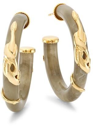 Gas Bijoux Cobra Bo Creole 24K Goldplated & Acetate Hoop Earrings