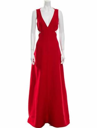 Valentino Virgin Wool Long Dress Wool