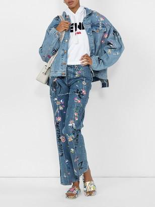 Vetements x levi's tribal sticker denim jeans