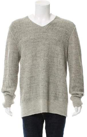 John Varvatos Wool & Alpaca-Blend V-Neck Sweater