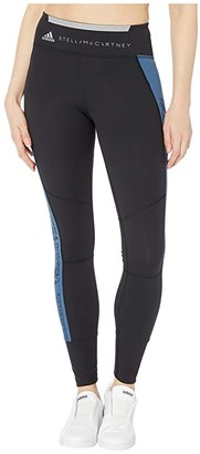 adidas by Stella McCartney Run Performance Tights FK9709 (Black/Visual Blue) Women's Casual Pants