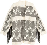 H&M Cardigan with Fringe - Natural white/patterned - Ladies