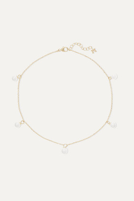 Mateo 14-karat Gold Pearl Anklet - one size