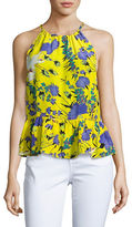 Tracy Reese Floral Printed Halter Top