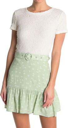 Elodie K Short Sleeve Crinkle Knit T-Shirt