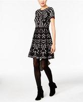 ECI Fit & Flare Sweater Dress