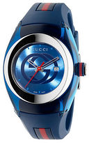 Gucci Unisex Blue Sync Stainless Steel and Rubber Watch - 36mm