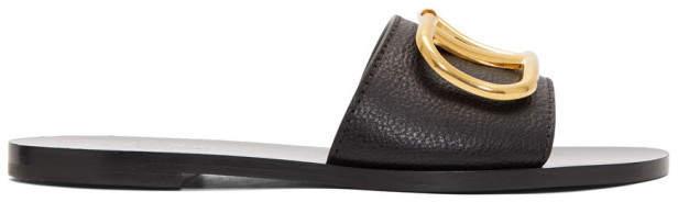 Valentino Black Garavani VLogo Slides