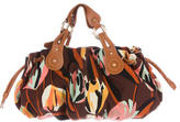 M Missoni Leather-Trimmed Canvas Tote