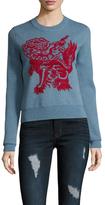 Vivienne Tam Fudog Intarsia Crewneck Sweater