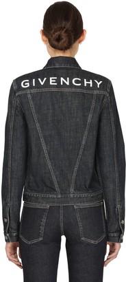 Givenchy Deep Indigo Denim Jacket W/ Back Logo
